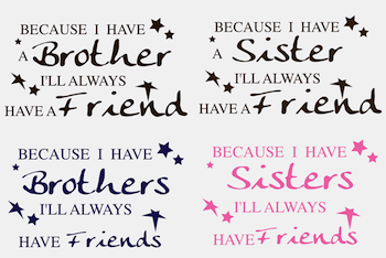 Custom BROTHER or SISTER Wall Quotes-