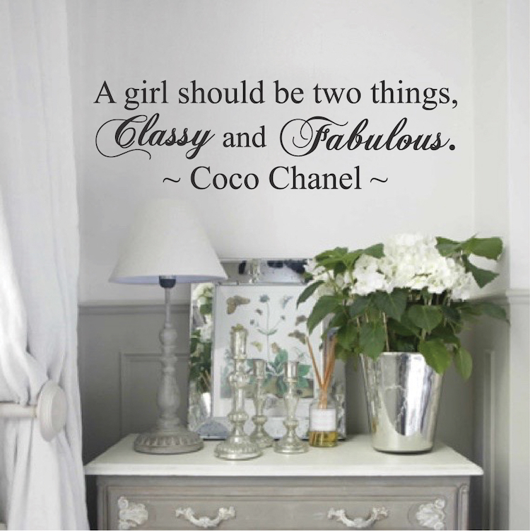 Coco Chanel Wall Quote Decal. Zoom