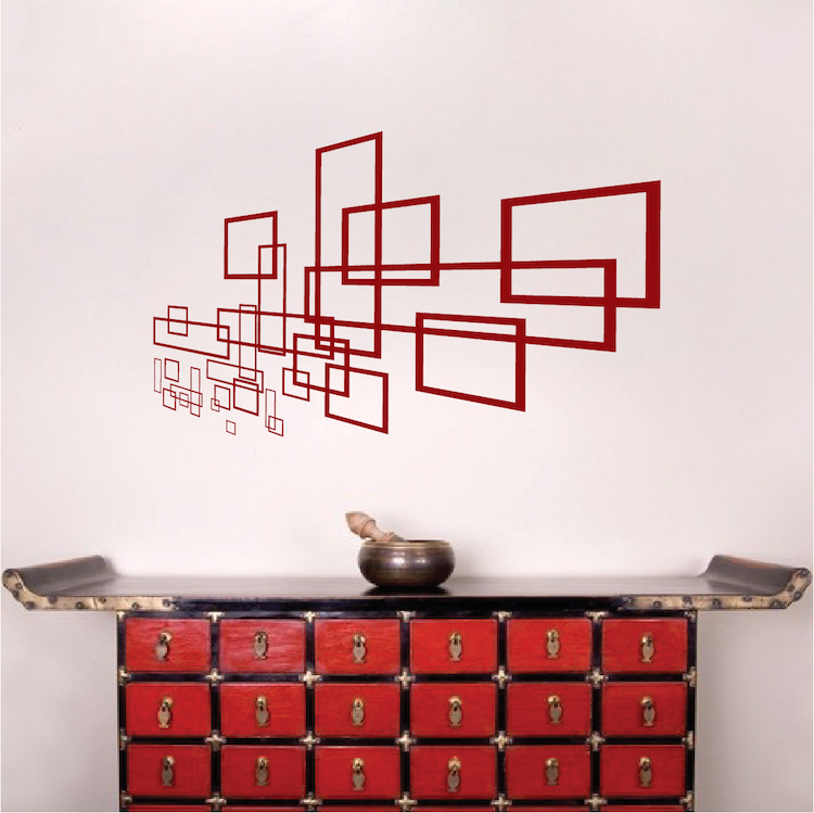 Geometric Modern Wall Decal Vinyl Wall Art From Trendy Wall Designs - Wall decals on furniture