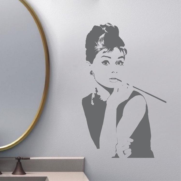 Audrey hepburn wall decal for Audrey hepburn mural
