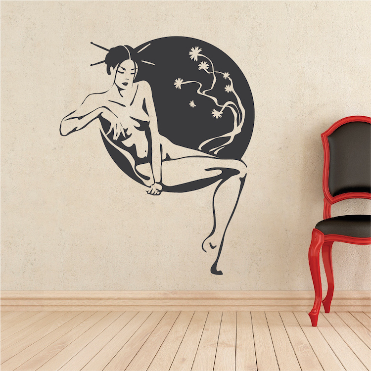 Asian lounge wall decal asian stickers trendy wall designs for Asian wall mural