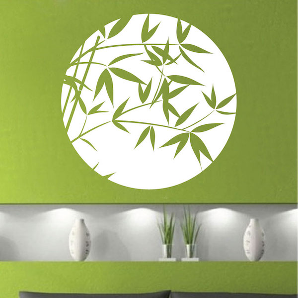 Bamboo Sphere Wall Decal. Zoom Part 70