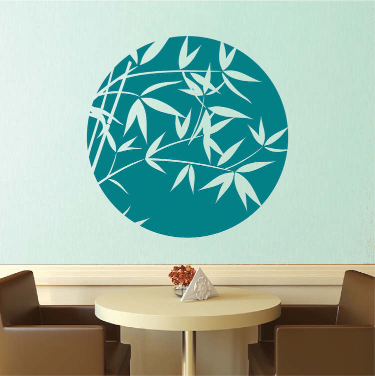 bamboo sphere wall decal trendy wall designs trendy flower tree wall decal trendy wall designs
