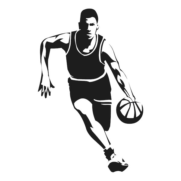 Running Basketball Player Wall Decal Trendy Designs
