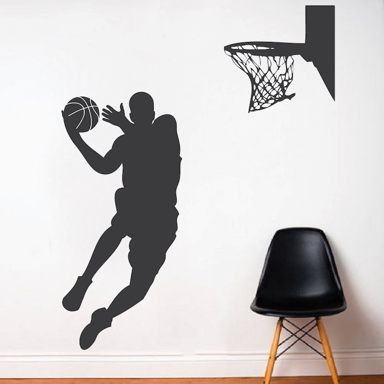 Basketball Wall Decals Basketball Player Wall Decal Trendy Wall Designs