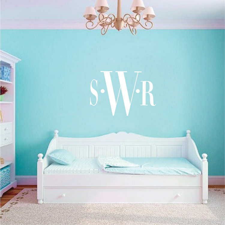 Incroyable Bedroom Monogram Wall Decal. Zoom