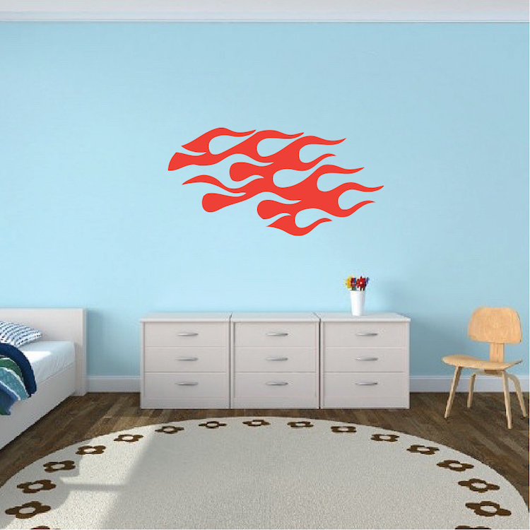 Bedroom Flame Wall Decal Sticker and Kids Room Wall Decal From ...