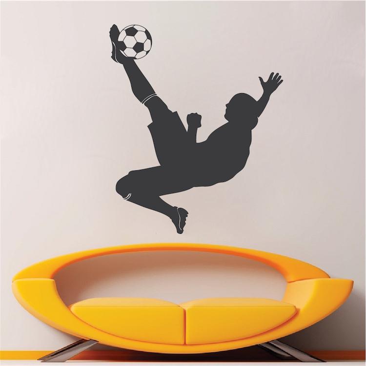 Soccer Player Wall Art Design - Sports Decals - Trendy Wall Designs