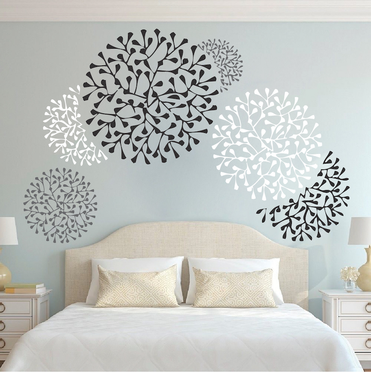 Beautiful Wall Accent Decals Bedroom Wall Stencils Removable