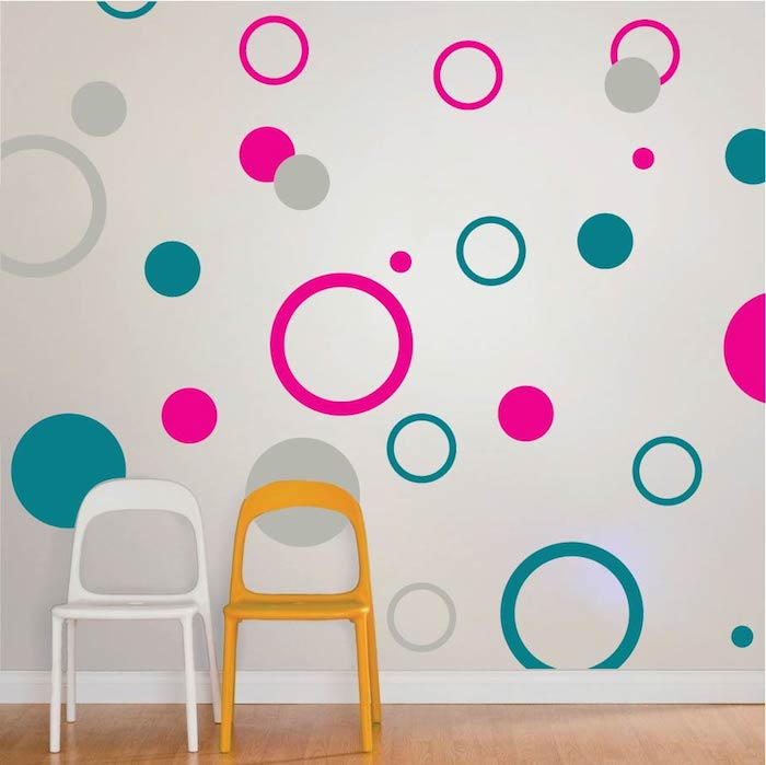 Rings And Dots Wall Decals | Trendy Wall Designs
