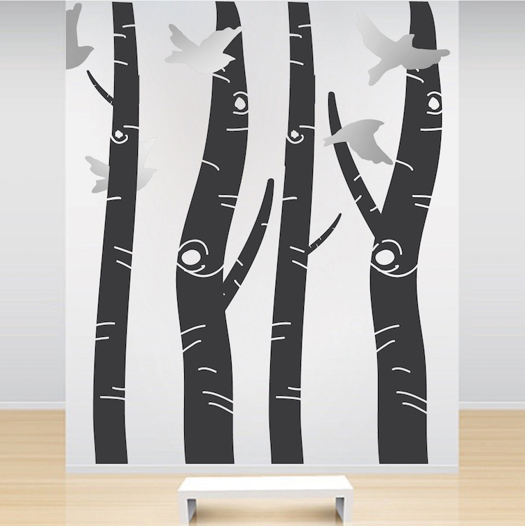 Birch Tree Trunk Wall Designs. Zoom