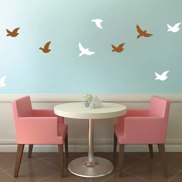 flying birds wall decals zoom - Wall Decals Designs