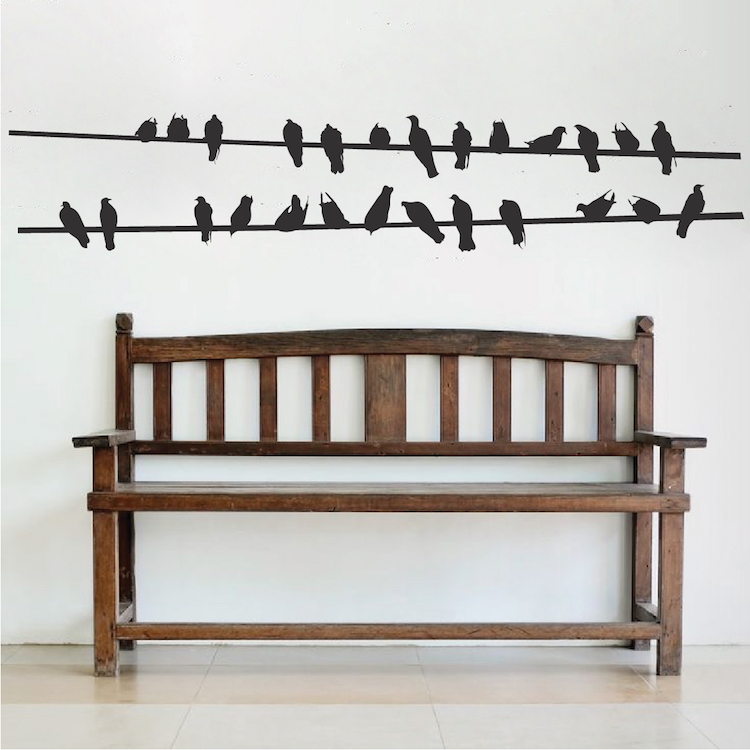 Birds On Wire Wall Decal Bird Stickers For Walls And Windows - Wall decals birds