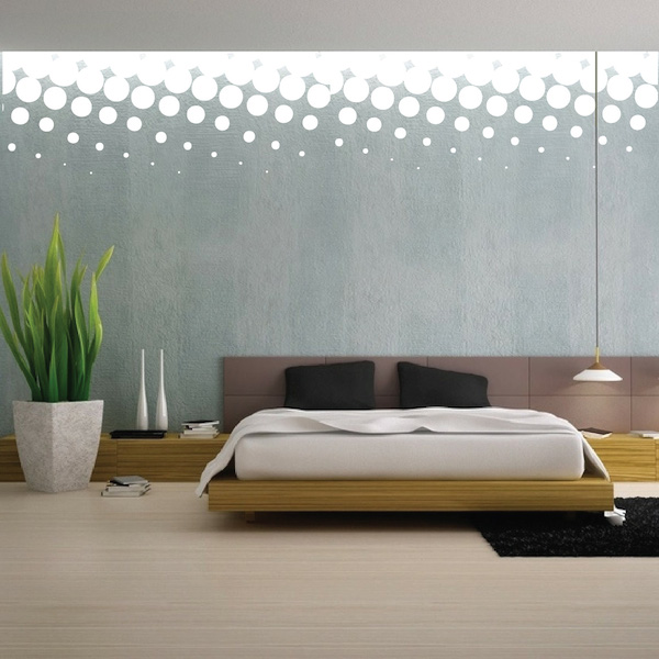 Wall Decal Art halftone border wall decal |trendy wall designs