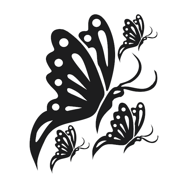 Butterfly wall decals trendy wall designs for Butterfly design on wall