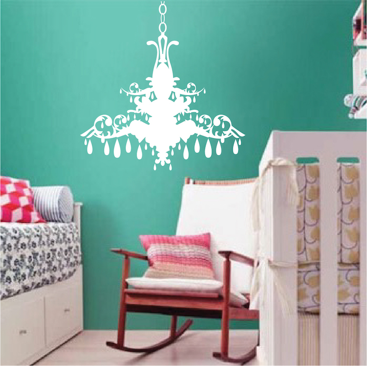 Chandelier Wall Art Sticker Part 82