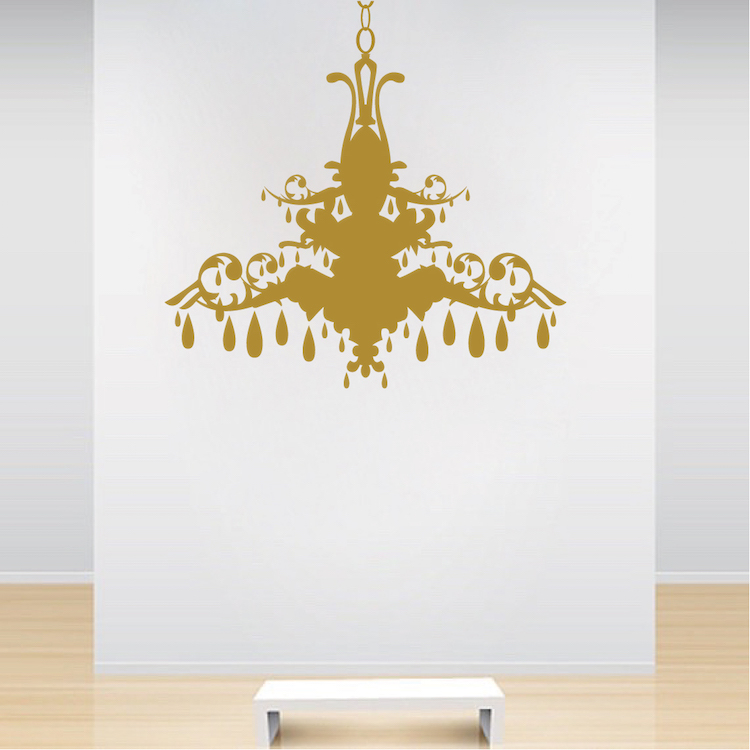 chandelier wall art sticker trendy wall designs