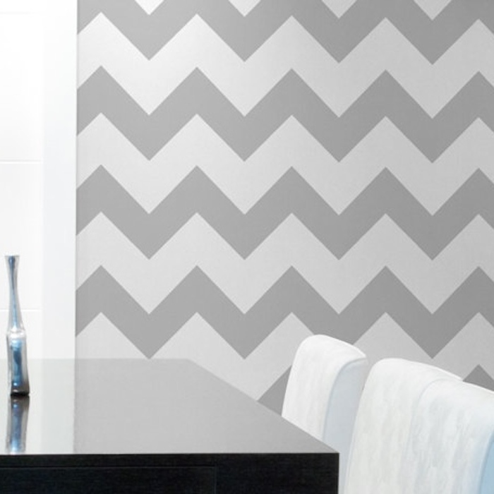 chevron wall decals trendy wall designs With chevron wall decal