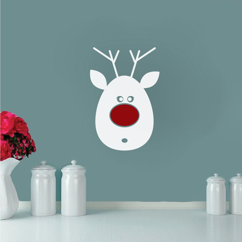 Reindeer Decal Sticker Santa Reindeer Decoration Mural