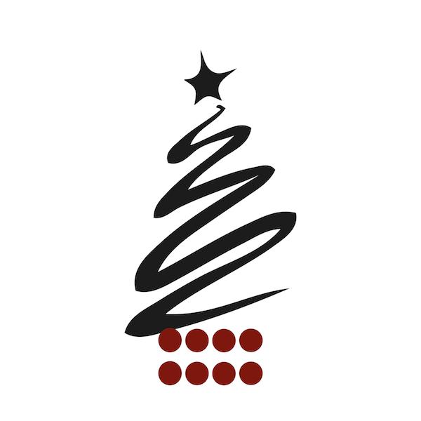 modern christmas tree wall decal zoom - Modern Christmas Tree