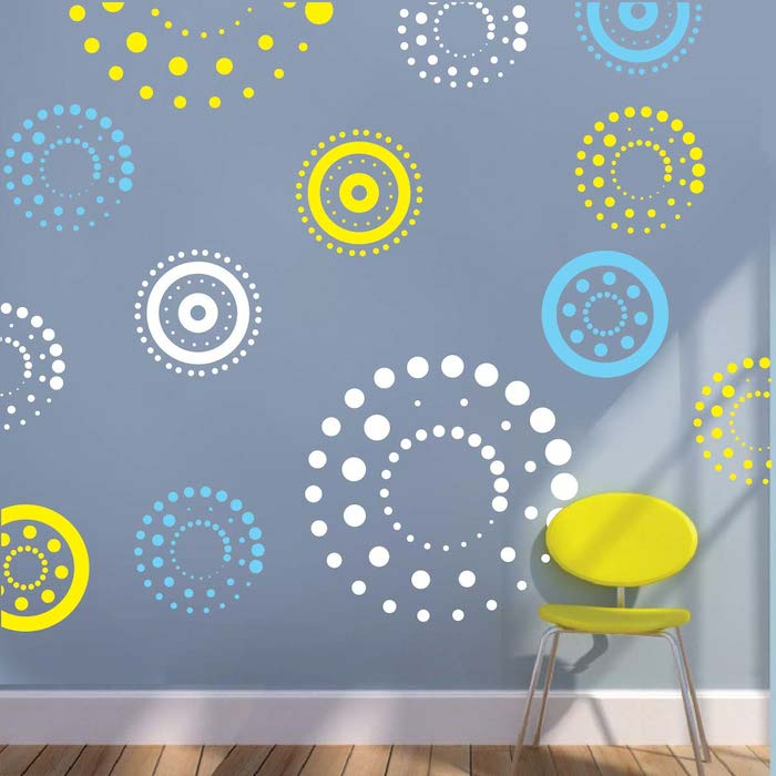 Trendy Wall Art circling dots wall decals - trendy wall designs