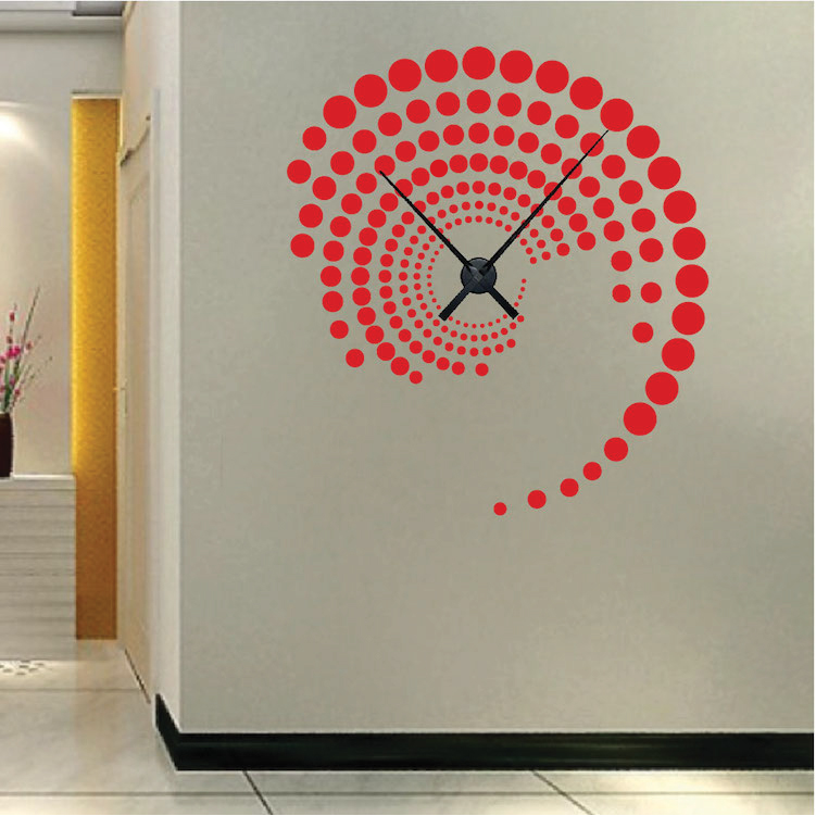 Trendy Design Wall Decals : Contemporary clock decals from trendy wall designs