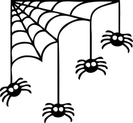 Corner spider web design - photo#3