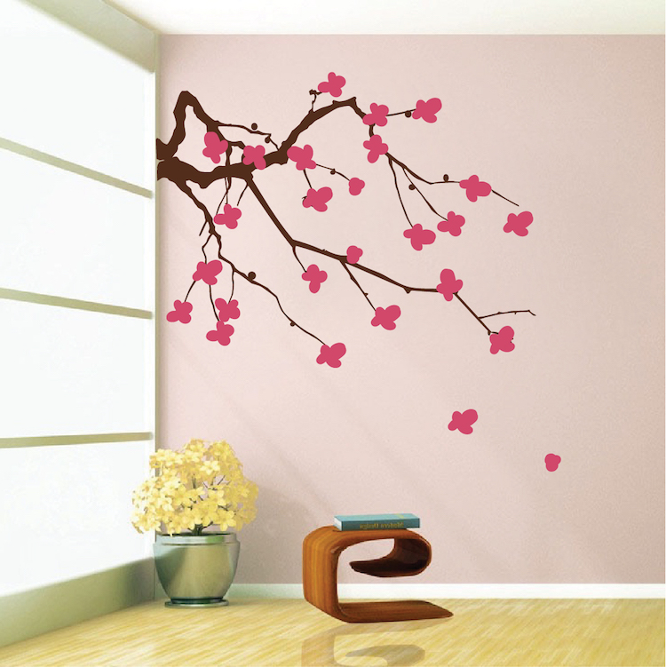 Cherry Blossom Branch Wall Decal & Cherry Blossom Branch Wall Decal | Trendy Wall Designs
