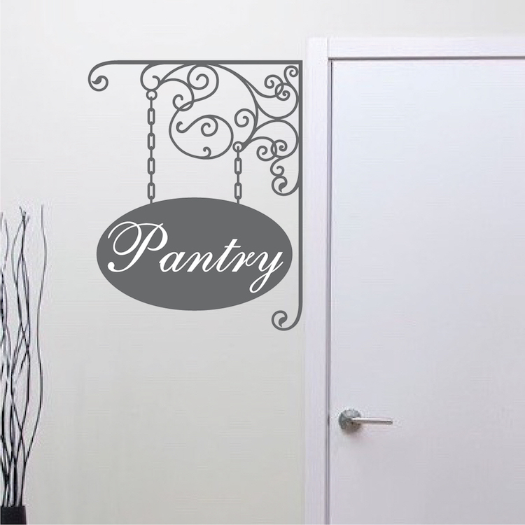 Personalized Hanging Sign Wall Decal Paris Wall Decals