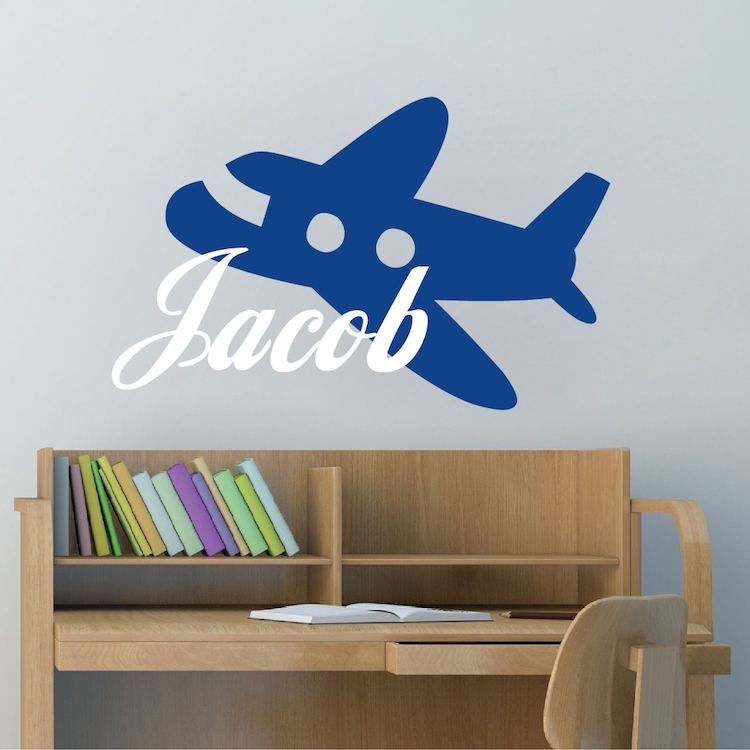 Airplane Wall Decal. Zoom