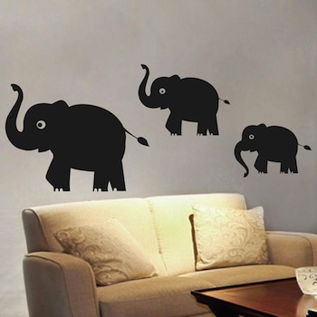 Cute Elephant Wall Decals From Trendy Wall Designs - Elephant wall decal