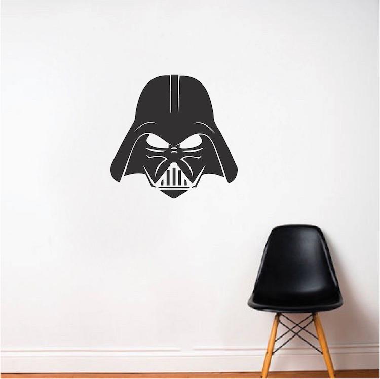 darth vader wall decal star wars wallpaper murals darth vader wall decal vinyl stickers star wars home interior