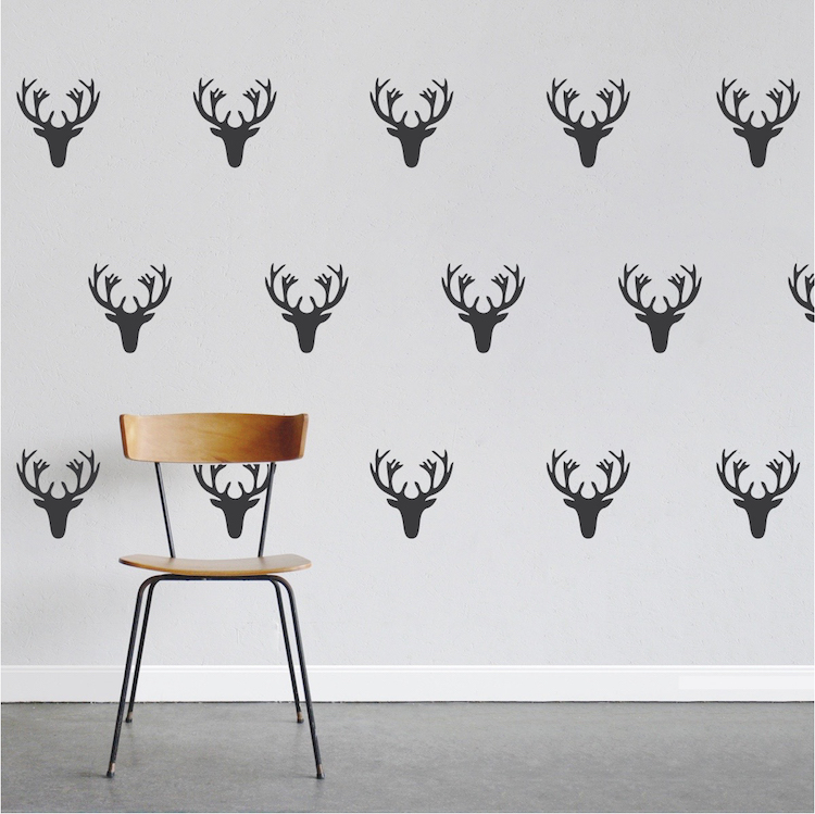 deer wall decal kit stickers trendy wall designs
