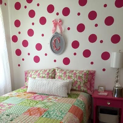 even polka dot wall art design - Wall Art Design Decals