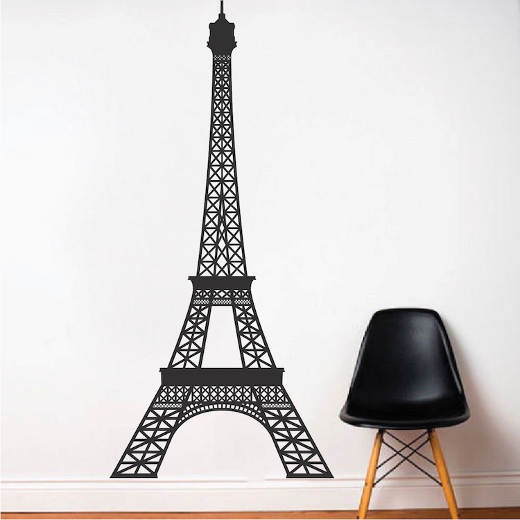 Captivating Eiffel Tower Wall Decal. Zoom