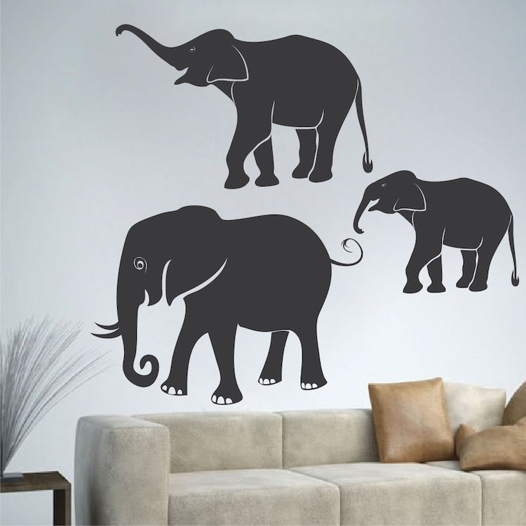 African Elephant Wall Decals  Wall Murals From Trendy Wall Designs - Elephant wall decal