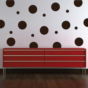 even polka dot wall art design zoom - Wall Art Design Decals