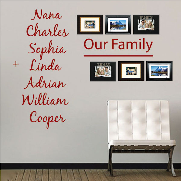 Custom Family Wall Decal. Zoom  sc 1 st  Trendy Wall Designs & Custom Family Wall Decal - Trendy Wall Designs
