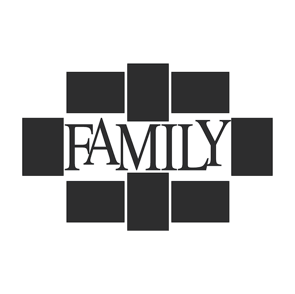 Family Picture Frame Wall Decal - Trendy Wall Designs