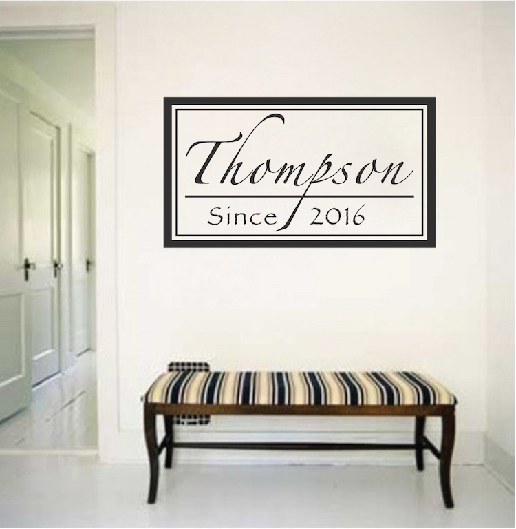 Cursive Custom Family Name Decal Family Home Wall Stickers
