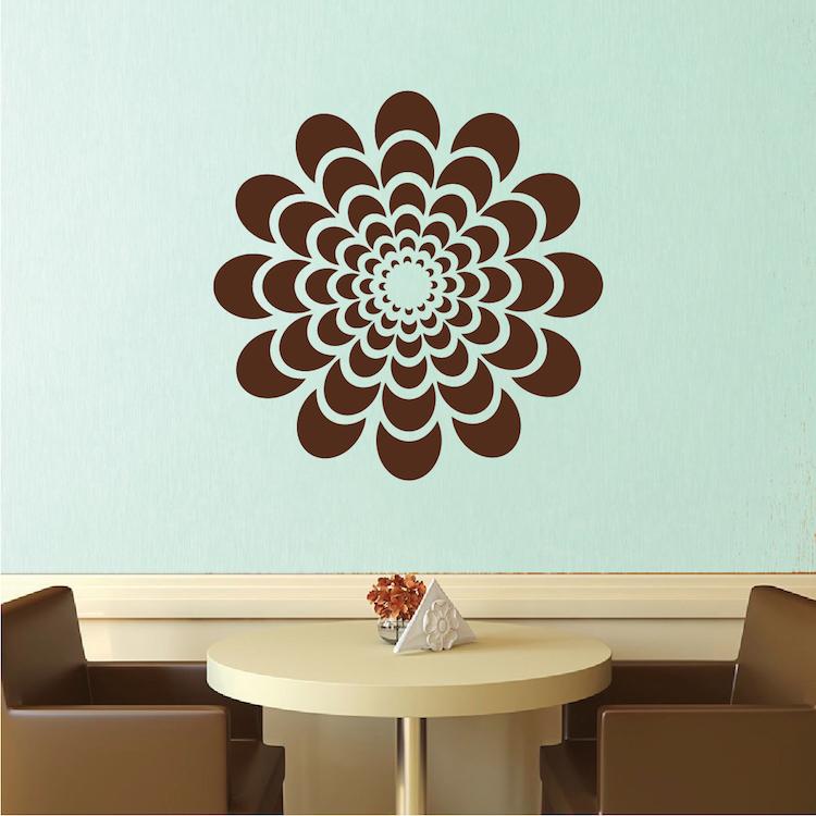 Trendy Design Wall Decals : Flower wall decal bedroom sticker murals