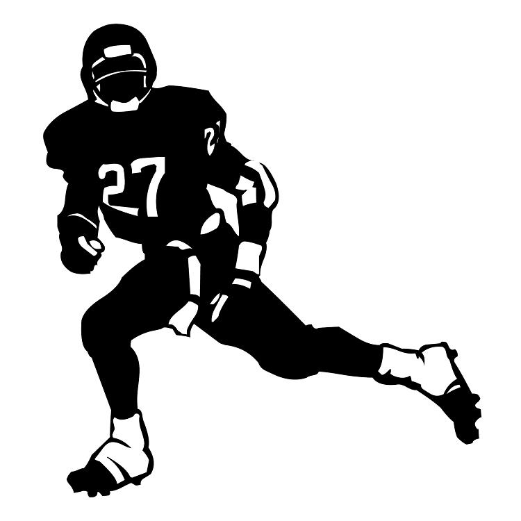 Football Helmet Sticker Designs : Player sticker sports soccer decal helmets