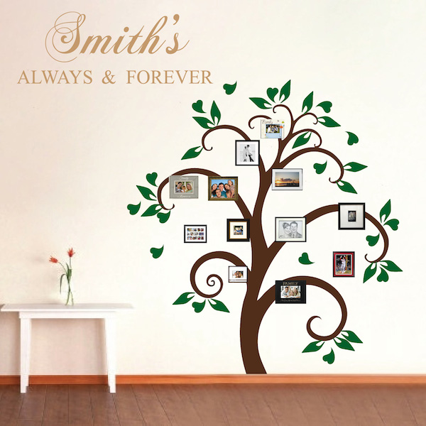 Picture Frame Tree Wall Decal, Tree Decals, Trendy Wall Designs