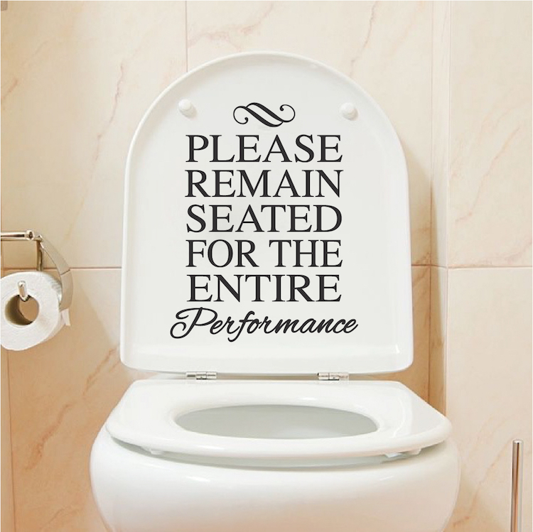 Funny toilet vinyl decal sticker from trendy wall designs for Funny bathroom designs
