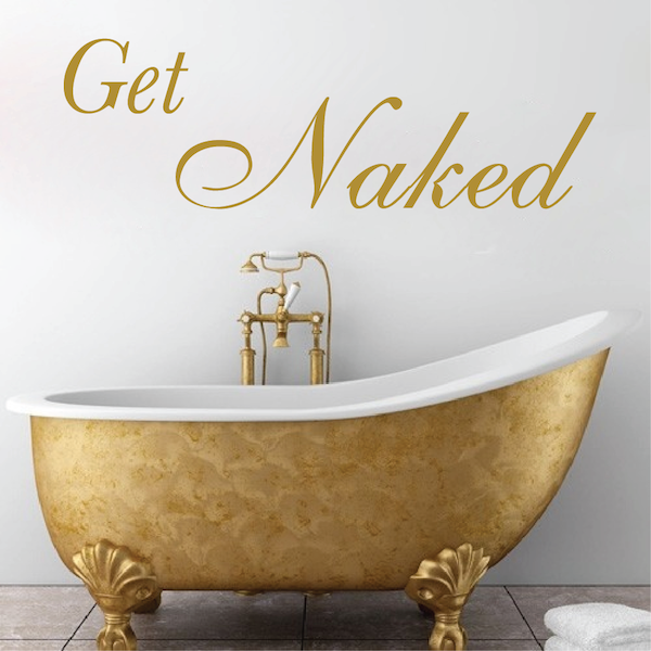 Get Naked Bathroom Wall Art 15q. Zoom