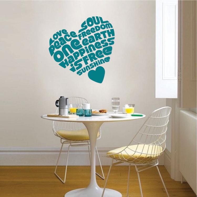 peaceful heart wall sticker trendy wall designs wall design decals 2017 grasscloth wallpaper