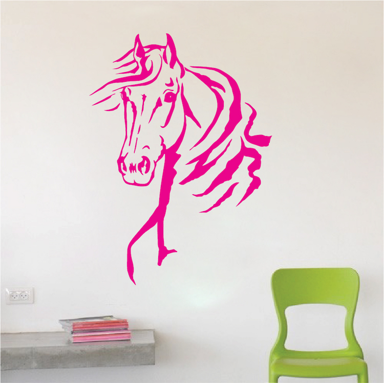 Horse Vinyl Wall Decals Large Horse Portrait Stickers For Walls - Wall decals horses