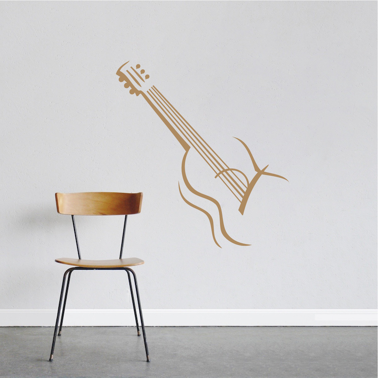 guitar vinyl wall decal design zoom - Wall Decals Designs