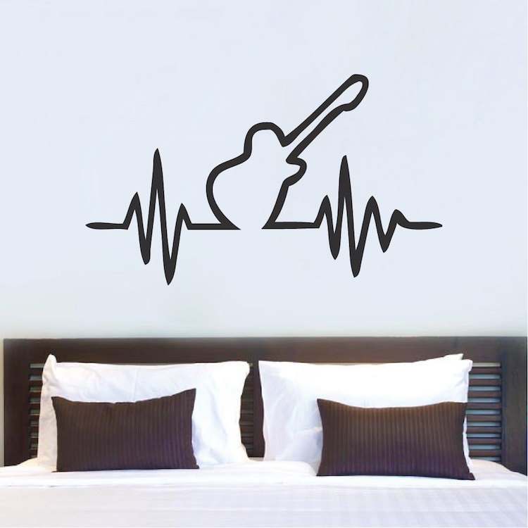Genial Guitar Beat Bedroom Decal Sticker. Zoom