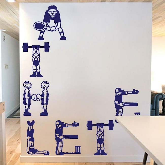 Athlete Wall Decal Wall Art Decal Trendy Wall Designs